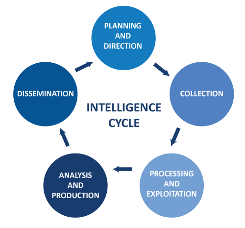 The Intelligence Cycle Steps Graphic