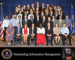 Group Photo from Winning FBI's Information Management Award in 2012